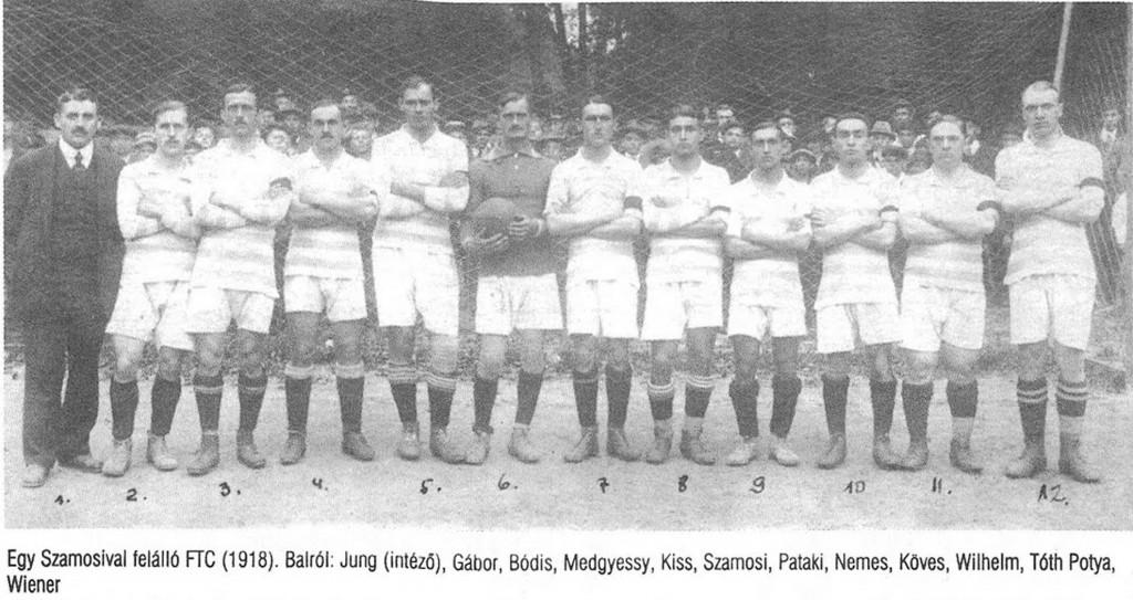 Balról: Jung intéző, Gábor, Bódis, Medgyessy, Kiss B., Szamosy, Pataki, Nemes, Köves, Wilhelm, Tóth-Potya, Wiener