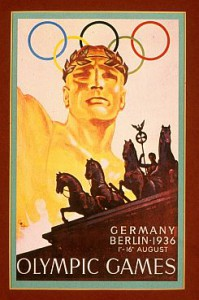 The 1936 Berlin offical poster on display