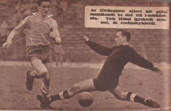 Albert Flórián 1958-as feltűnése új fejezetet nyít a Ferencváros életében...