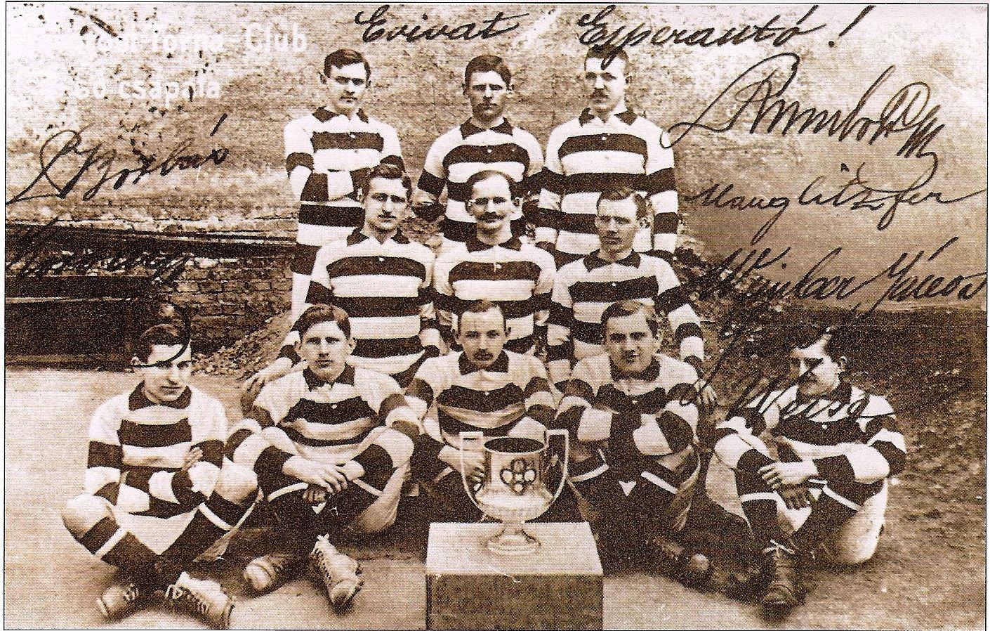 Felső sor: Rumbold, Fritz, Manglitz. Középső sor: Weinber II., Bródy, Gorszky. Elől: Rónai, Weisz F., Koródy, Schlosser, Szeitler