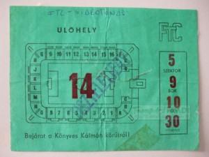 1974.09.14. Ferencváros - Videoton 2-3