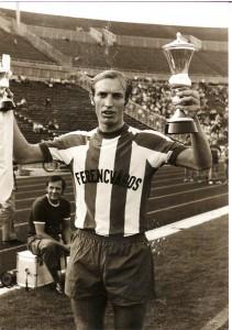Juhász az 1973-as Népsport kupa győztese