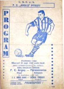 1967.09.20., Pitesti, Arges Pitesti - Ferencváros: 3-1, VVK