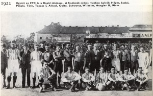 1922.V.21., FTC - Rapid: 2-0. Közös csapatkép