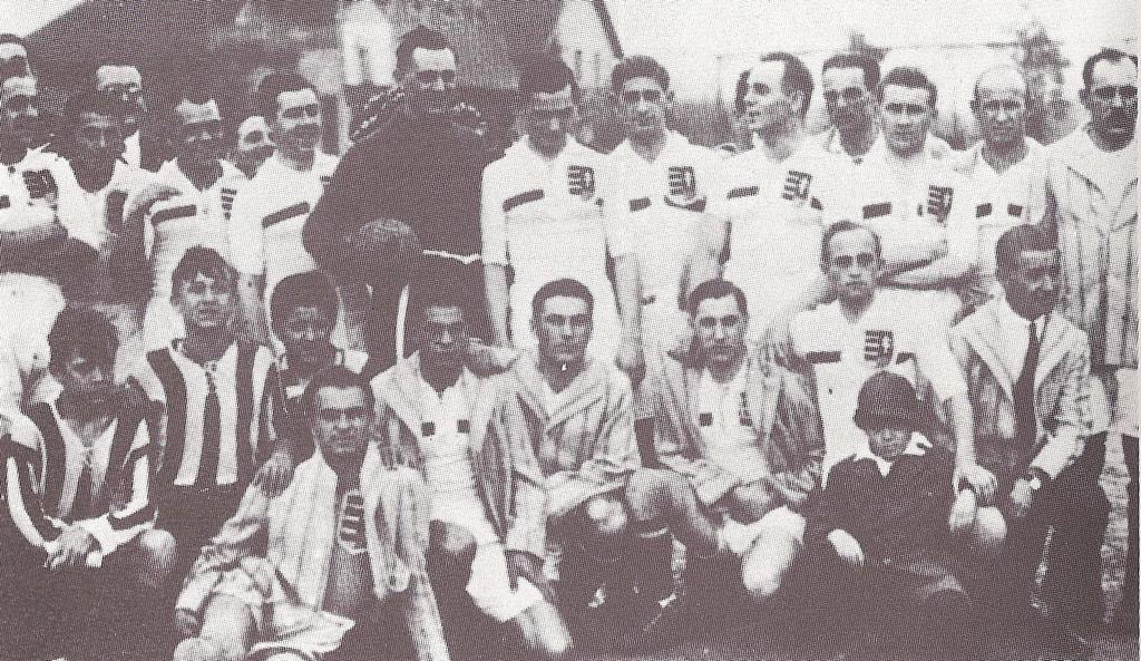 Álló sor balról: Opata, Kohut, Priboj, Hungler II., Zsák, Fuhrmann, Molnár, Kléber, Senkey I., Rebro, Zloch, Takács I.