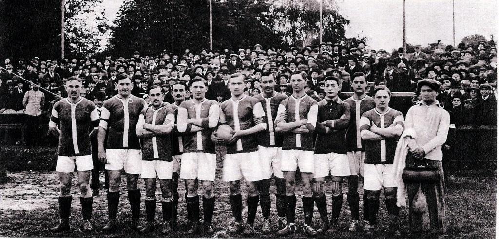 Állnak(balról): Payer, Rumbold, Medgyessy, Blum, Weisz F., Schlosser, Kiss B., Antony, Ungár, Rumbold II., Tóth-Potya, Bródy