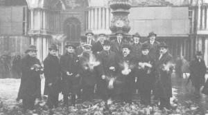 balról: Tóth-Potya, Obitz, Blum, Pataki M., Schwartz E., Wilheim, Szigeti Imre, Malaky Mihály, Csajka, Nikolsburger I., Szabó J., Héger, Takács I.