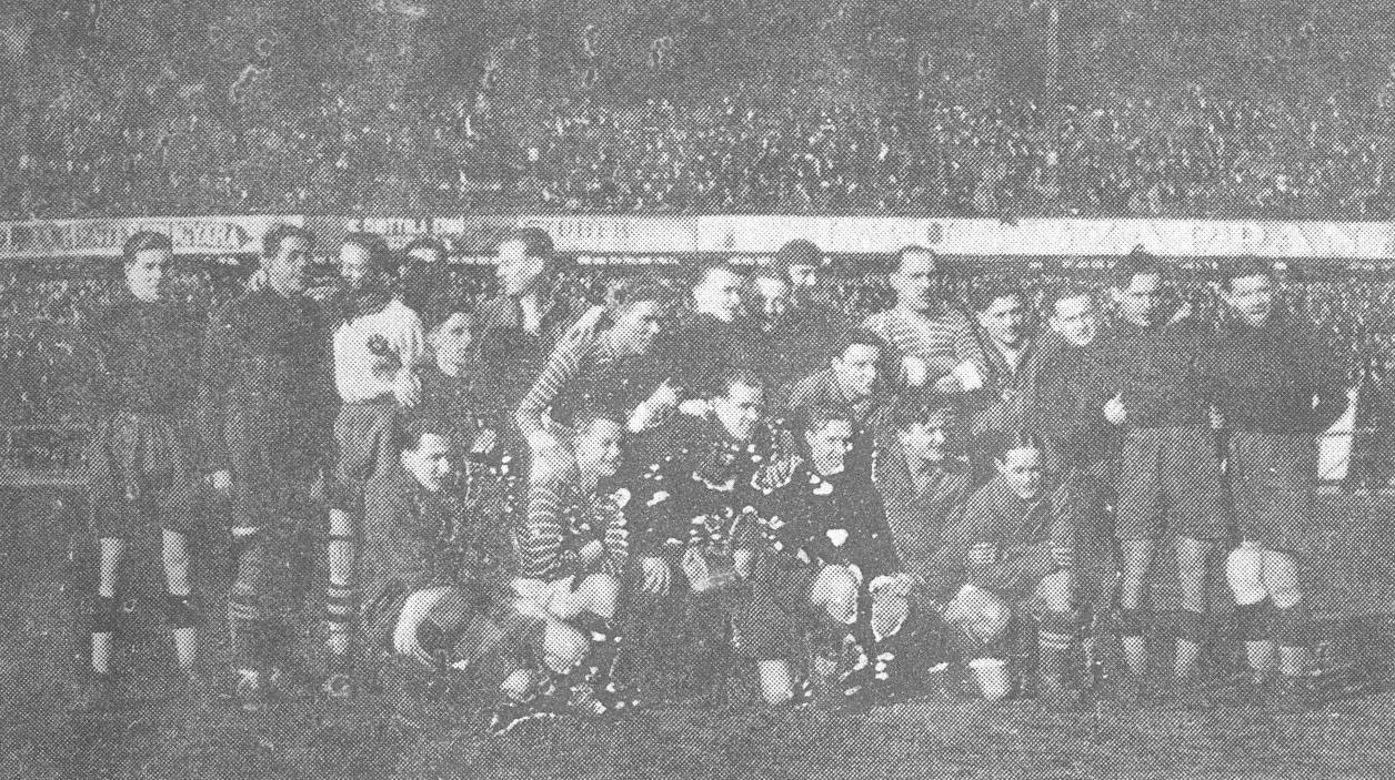 A Ferencváros és a Wiener AC közös csapatképe