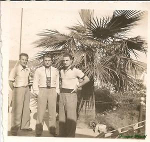Mészáros, Szusza és Mike a mexikói túrán (fotó: Rudas Ferenc gyűjteményből)