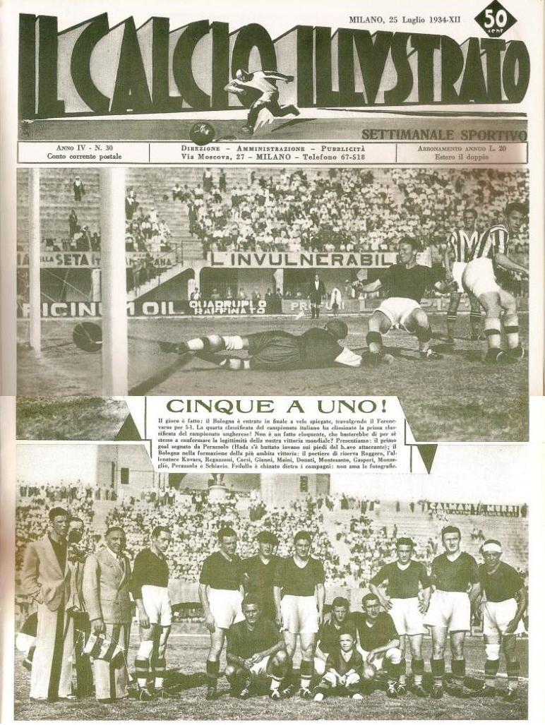 Az Il Calcio Illustrato címlapja