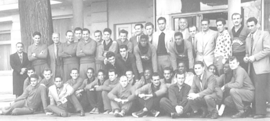 Közös csapatkép a mérkőzés előtti napon