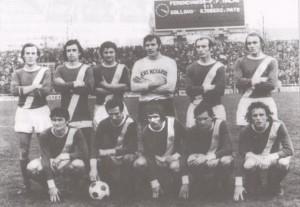 Állnak (balról): Martos, Rab, Bálint, Géczi, Juhász, Megyesi. Elől: Pusztai, Nyilasi, Máté, Onhausz, Magyar