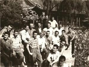 Kinában túrázik az olimpiai csapat (fotó: Novák Dezső gyűjteményéből)