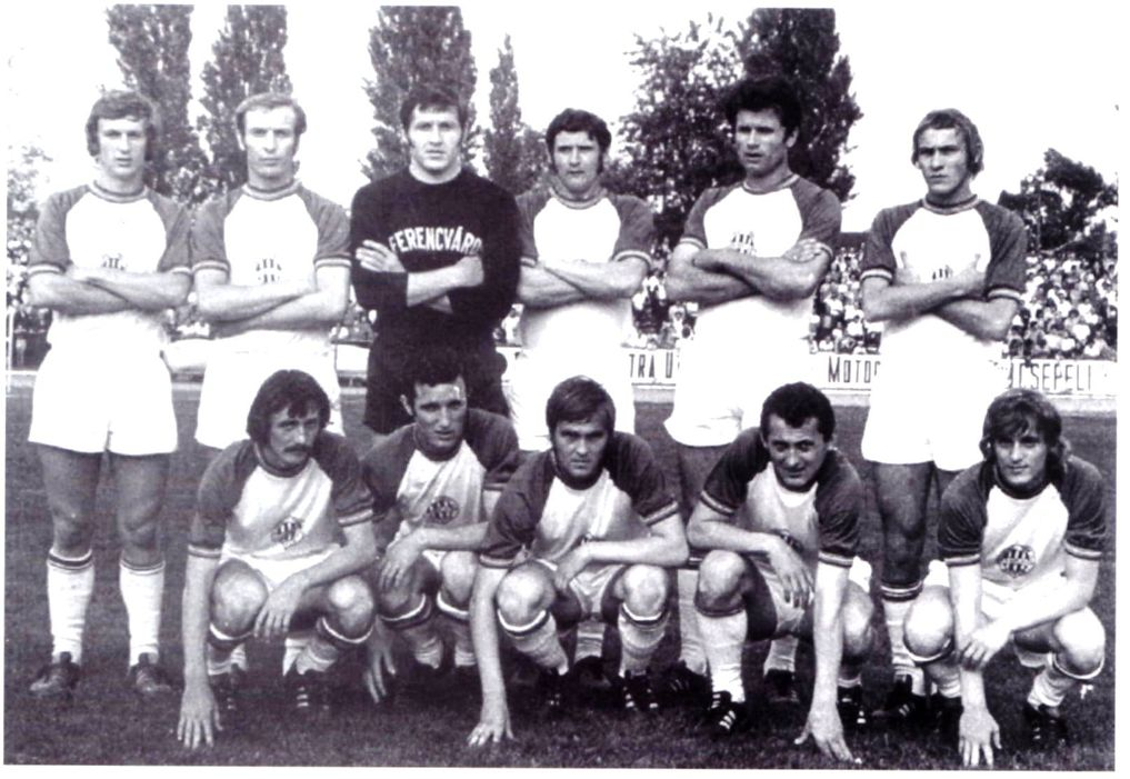 Állnak (balról): Vépi, Juhász, Géczi, Bálint, Páncsics, Megyesi. Elől: Engelbrecht, Branikovits, Albert, Mucha, Ebedli