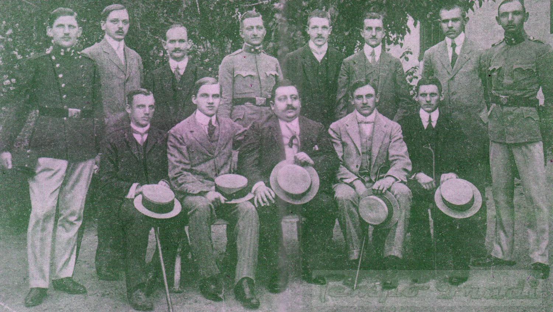 Állnak (balról): Weisz F., Borbás, Bródy, Weinber II., Manglitz, Szeitler, Kucsera, Koródy. Elől: Gorszky, Schlosser, Malaky Mihály, Rumbold, Fritz