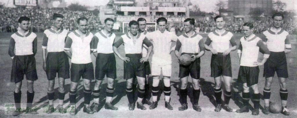balról: Rázsó, Turay, Takács I., Papp, Kohut, Pataki, Huber, Dán, Furmann, Obitz, Bukovi