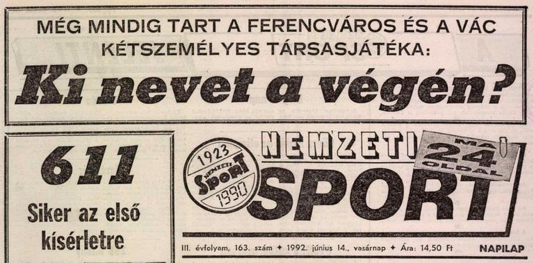 0c138b7c5 1992.VI.13. Ferencváros – Siófok 5:0 | Tempó, Fradi!